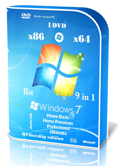 Microsoft Windows 7 SP1 [6.1.7601.17514 Service Pack 1 Сборка 7601] [2016] [1DVD] by OVGorskiy®