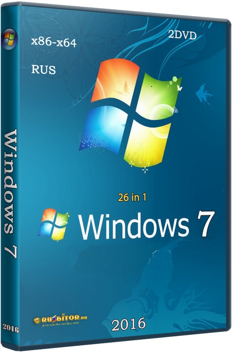 Windows 7 SP1 with Update (x86-x64) AIO [26in1] adguard (v16.12.20) [7601.23615] [2016]