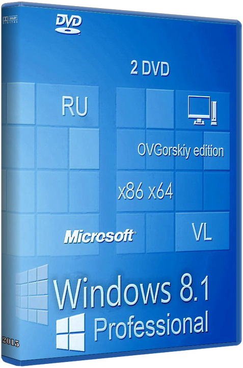 Microsoft® Windows® 8.1 Professional VL with Update 3 x86-x64 Ru [6.3.9600.17476.] [2016] [2DVD] by OVGorskiy