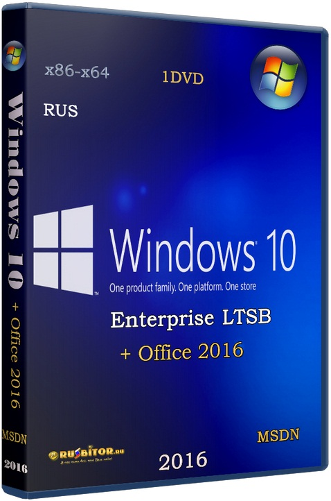 Windows 10 Enterprise LTSB x86-x64 1607 Office16 [01.2017] [2017] [2DVD] by OVGorskiy®