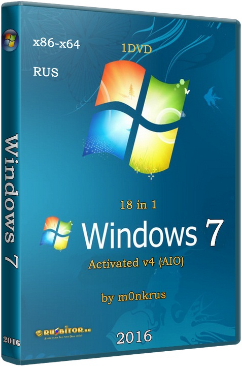 Windows 7 SP1 RUS-ENG x86-x64 -8in1- KMS-activation v3 (AIO) [6.1.7601.17514] [2017] [1DVD] by m0nkrus