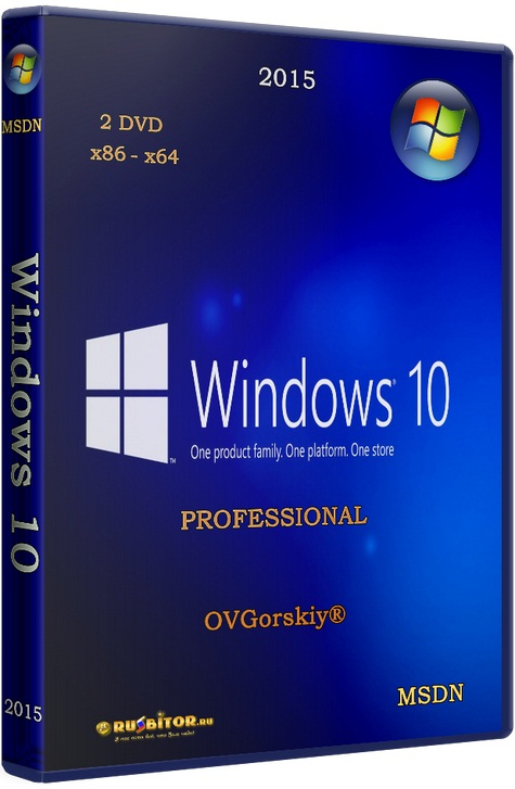 Windows 10 Professional VL x86-x64 1703 RS2 RU [10.0 build 15063 Redstone Release (RS2) - Version 1703 Creators Update (10.0.15063.13)] [2017] [2DVD] by OVGorskiy