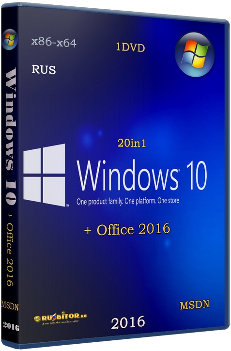 Скачать Windows 10 (x86/x64) 12in1 + LTSB +/- Office 2016 [11.05.17] [2017] [1DVD] by SmokieBlahBlah