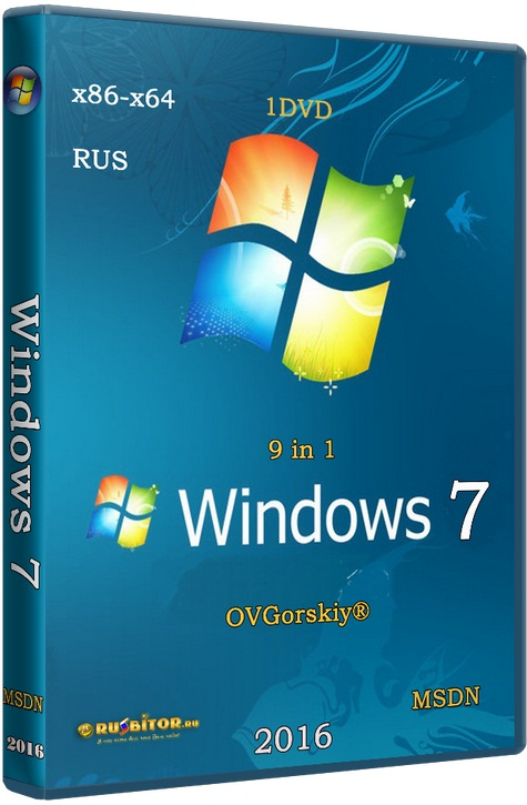 Скачать Windows 7 SP1 x86/x64 Ru 9 in 1 Origin-Upd 05.2017 [6.1.7601.17514 Service Pack 1 Сборка 7601] [2017] [1DVD] by OVGorskiy